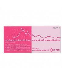 CINFAMAR INFANTIL 25 MG 4 COMPRIMIDOS