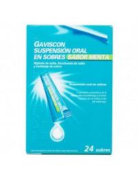 GAVISCON 24 SOBRES SUSPENSION ORAL MENTA 10 ML