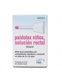 PAIDOLAX 3.28 ML SOLUCION RECTAL 4 ENEMAS 4 ML