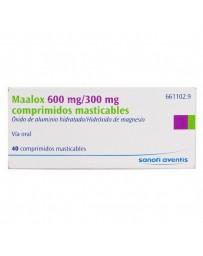 MAALOX CONCENTRADO 600 MG/300 MG 40 COMPRIMIDOS MASTICABLES