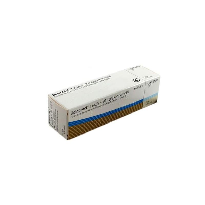 DOLOPROCT 1 MG/G + 20 MG/G CREMA RECTAL 1 TUBO 30 G